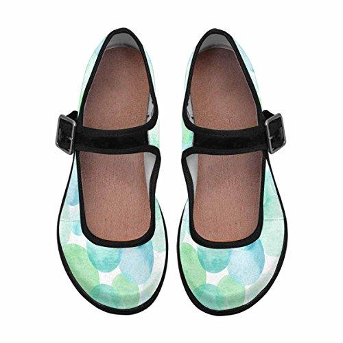 Interestprint Femmes Confort Mary Jane Appartements Casual Chaussures De Marche Multi 13