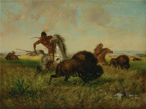- Oil Painting 'John Dare Howland,Buffalo Hunt,about 1868', 8 x 11 inch / 20 x 27 cm , on High Definition HD canvas prints is for Gifts And Game Room, Laundry Room And Nursery Decoration