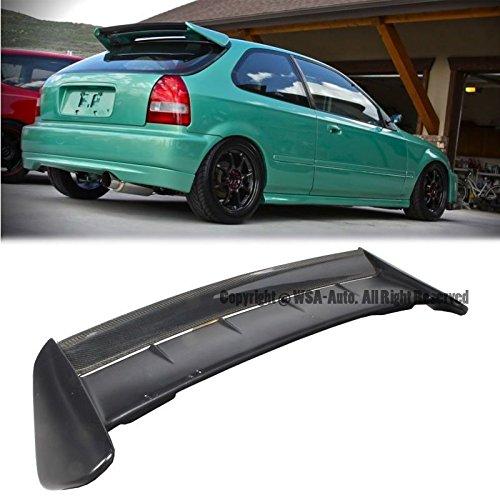 EOS Rear Wing Spoiler Riser Extender Lift Tilt Kit Silver For Honda Civic 3 Door Hatchback EK9 96-00 1996 1997 1998 1999 2000