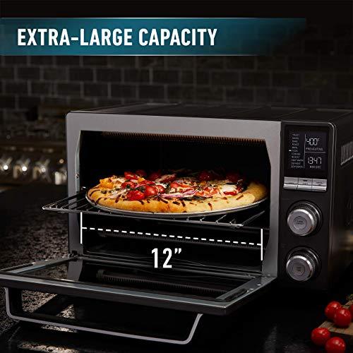 Calphalon Quartz Heat Countertop Toaster Oven, Dark Stainless Steel (Renewed) by Calphalon (Image #1)