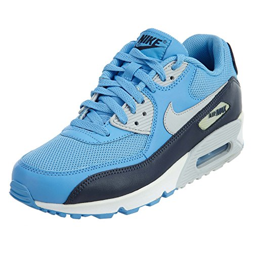 Nike Air Max 90 Essential Mens Running Shoes, University Blue/Pure Platinum-Obsidian-White, 7.5 D(M) US