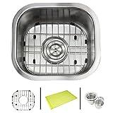 Ariel Pearl 14 Inch Stainless Steel Undermount Single Bowl Kitchen / Bar / Prep Sink - 18 Gauge