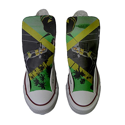 Scarpe Converse All Star Alte personalizzate (scarpe artigianali) con colori e temi Jamaika