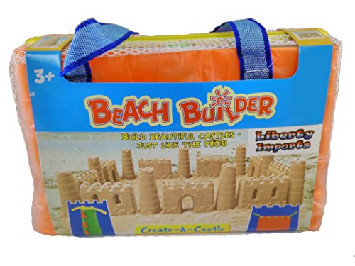 Beach Builder Create-A-Sand Castle Building Kit for Kids (18 Pcs)