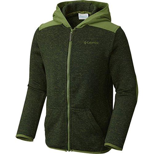 Boys Fleece Hood - Columbia Big Boys' Birch Woods Ii Full Zip Fleece Jacket, Deep Woods Heather, X-Large