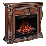 ClassicFlame Lexington Infrared Electric Fireplace Mantel, Cherry with 33II042FGL Infrared Electric Fireplace