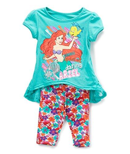 Ariel Outfit (Disney Girls' 2T-6X Ariel High-Low Tunic Leggings Set 2T)