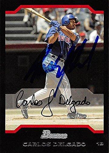 Carlos Delgado autographed baseball card (Toronto Blue Jays, FT) 2004 Bowman #108 - Baseball Slabbed Autographed Cards (Carlos Delgado Autographed Baseball)