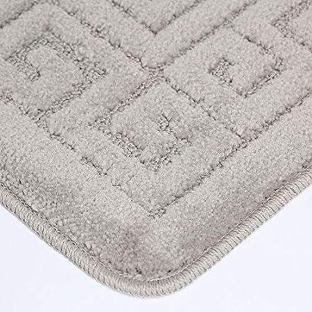 Badeteppich EDS Aqua Badematten Set 2-teiliges antirutsch beschichtet WC Vorleger extra stark saugf/ähig, Badvorleger Badegarnitur