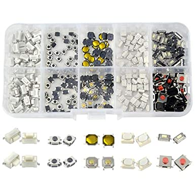 10x Pack Lot 4 x 4 x 1.7 mm Push Touch Tactile Momentary Micro Button Switch DIP