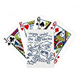 Blue Octopus Marine Life Pattern Poker Playing Card Tabletop Board Game Gift