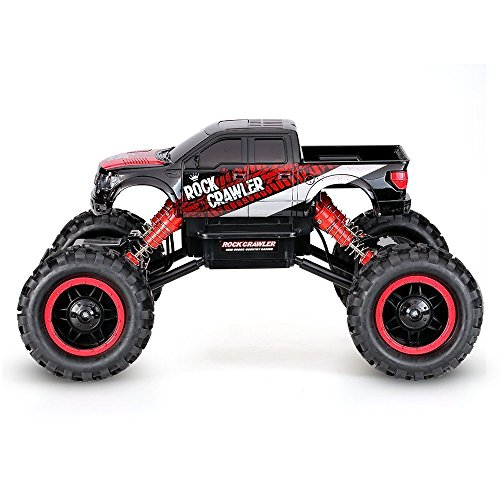 AHAHJJ RC Car Off-Road Rock Crawler 2.4Ghz 4WD Remote Control Vehicle 1/14 Electric Racing Monster Truck with LED Headlights
