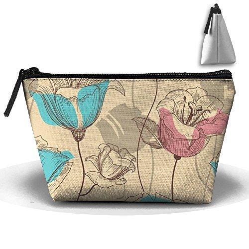 Flower Drawing Storage Bag Tote - Bloom Floral Wallpaper