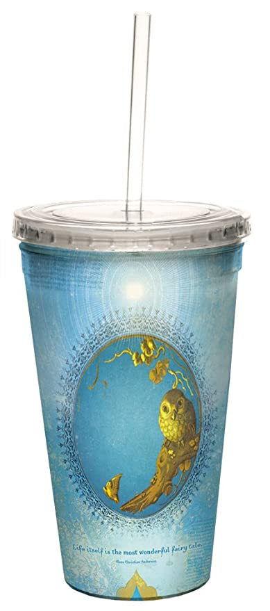16-Ounce Tree-Free Greetings 35557 Angi and Silas Life Itself Double-Walled Cool Cup with Reusable Straw