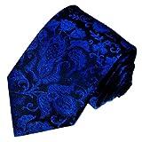 LORENZO CANA - Luxury Italian 100% Silk Tie Jacquard Woven Blue Black - 36055