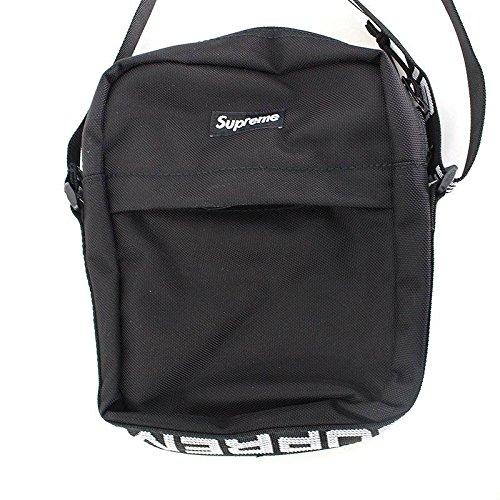 (シュプリーム) SUPREME 【18SS】【Shoulder Bag】ボックスロゴナイロンショルダーバッグ(ブラック) 中古 B07FQH5Z4P