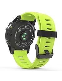Garmin Fenix 3 Accessories, MoKo Soft Silicone Replacement Watch Band for Garmin Fenix 3 / Fenix 3 HR / Fenix 5X Smart Watch - GREEN