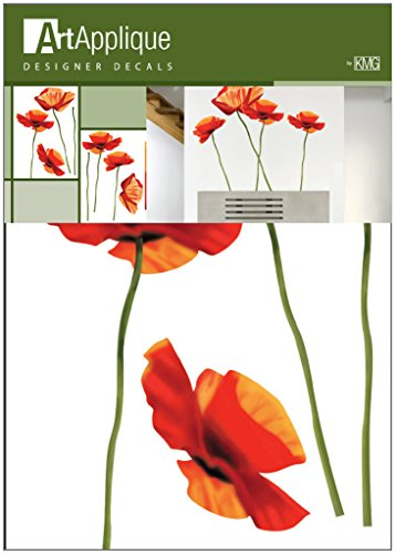 Art Applique Poppies Designer Wall Decor Vinyl Decal Sticker