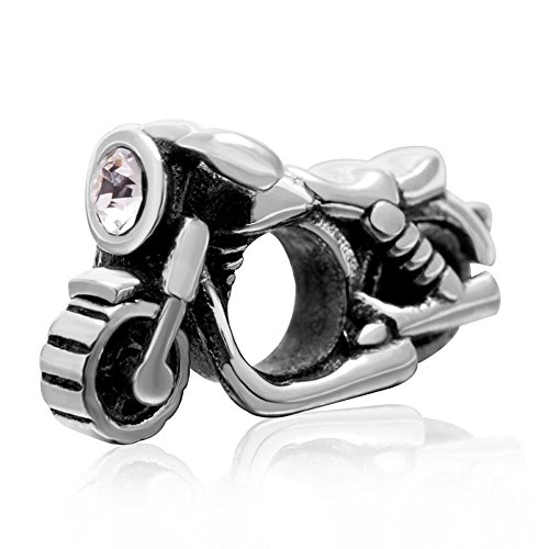 Motorcycle Charm Sport Charm Travel Charm Vacation Charm for Pandora Bracelet (Motorcycle)