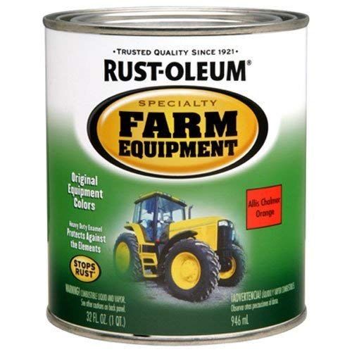 Rust-Oleum 7458502 Specialty Farm Equipment Enamel, Orange Allis Chalmer, 1-Quart by Rust-Oleum -