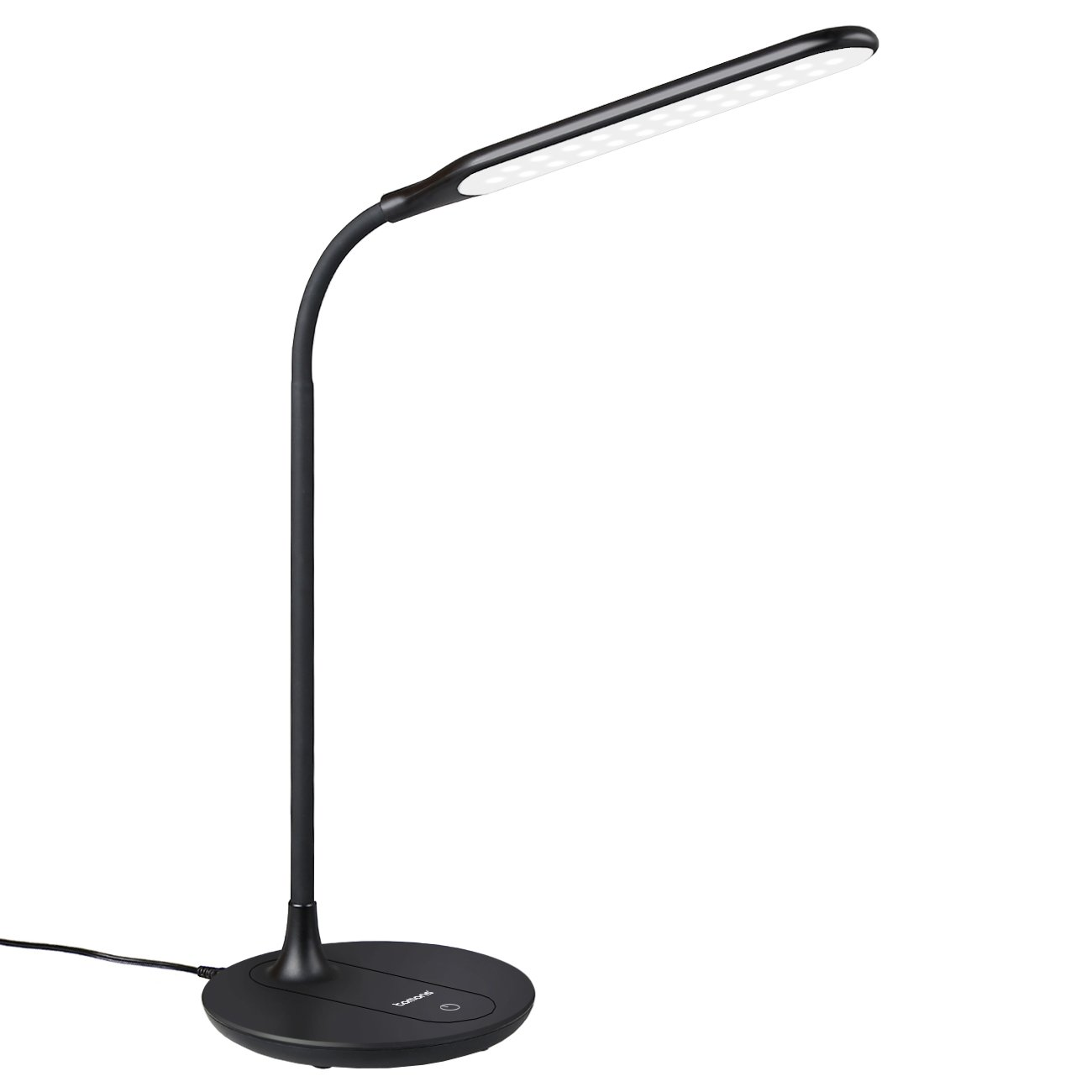 Tomons LED Desk Lamp, Office Lamp With USA Charging Port, Gooseneck Design, 360° Rotation Adjustable, 3 Brightness Levels - DL2002