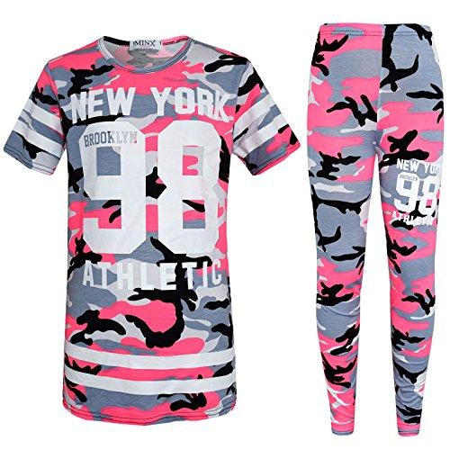 per 7 ragazza Ahr New camouflage Ltd stile camo modello York Tuta rosa 13 98 anni 4BcITB
