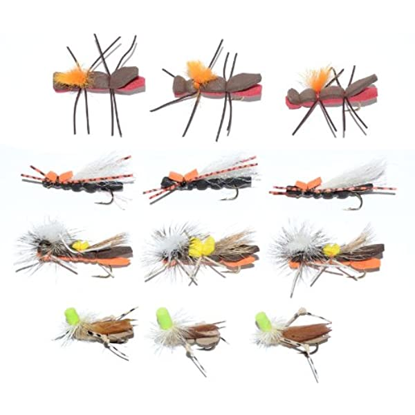 Damsel Flies 6 Pack Brown Dragon Flies size 10 perfect in summer Trout Flies