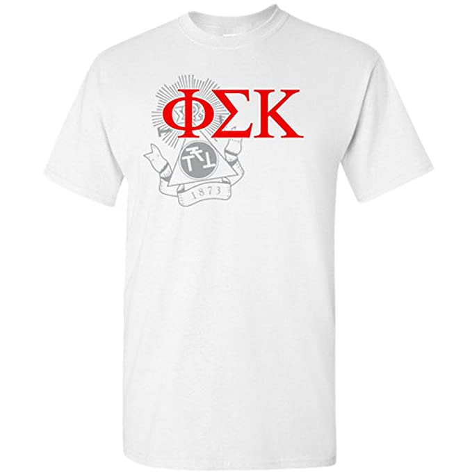 Amazon Com Greekgear Phi Sigma Kappa Greek Crest T Shirt Clothing