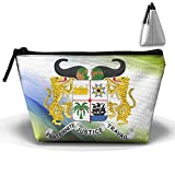 Simoner Coat Of Arms Of Benin Large Capacity Storage Bag Makeup Package Trapezoidal