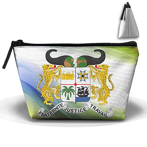 Simoner Coat Of Arms Of Benin Large Capacity Storage Bag Makeup Package Trapezoidal by Simoner