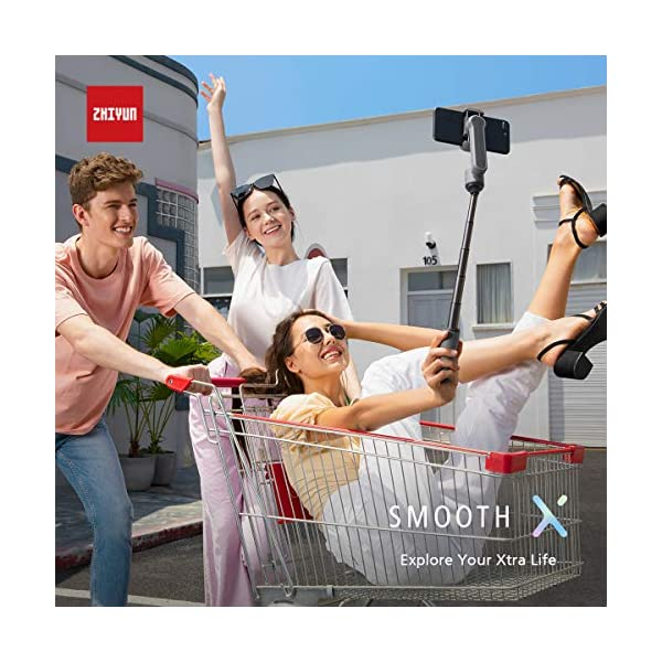 ZHIYUN Smooth-X Ufficiale Smartphone Pieghevole Stabilizzatore del Giunto Cardanico Stick per Selfie Vlog Youtuber (Grigio) 6 spesavip