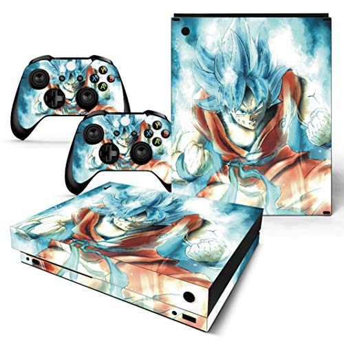 EBTY-Dreams Inc. - Microsoft Xbox One X Scorpio - Dragon Ball Z (DBZ) Anime Son Goku Saiyan Vinyl Skin Sticker Decal Protector (Best Dragon Ball Z Game For Wii)