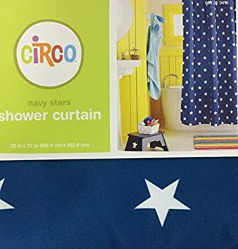 Circo Navy Stars Shower Curtain By