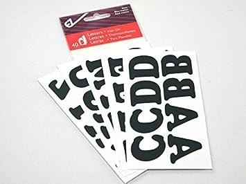 iron on vinyl alphabet letters navy blue per pack of 40