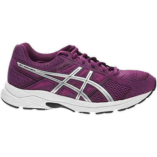 Asics Prune Black 4 Contend Gel Shoe Women's White Silver Running qrBq0x