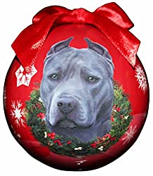 blue pit bull christmas ornament shatter proof ball these pit bull ornaments are measuring 3 inches in diameter and come equipped with the most