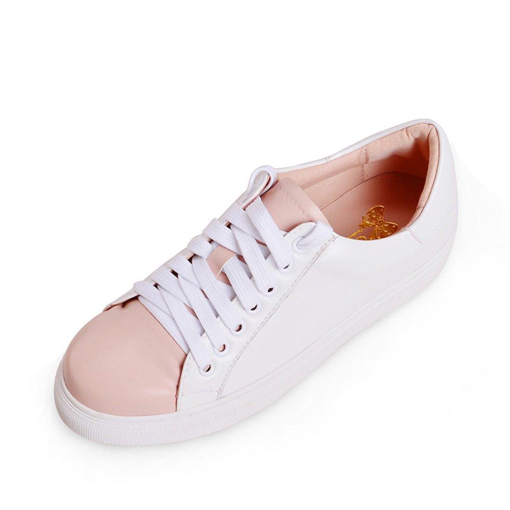 WLJSLLZYQ Sommer Casual Sportschuhe/Dicke Runde Plattform Damenschuhe zum Jahresende/Farbabgleich Schuhe A