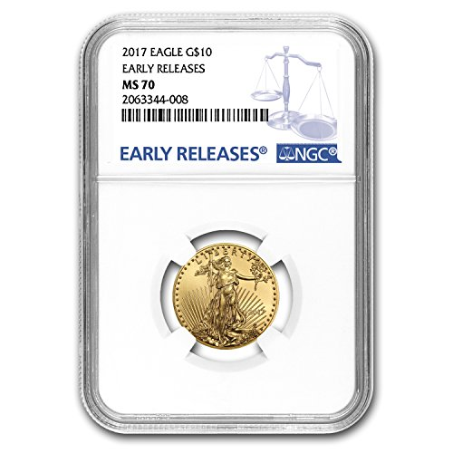 Gold Eagle Ms70 Early Release (2017 1/4 oz Gold American Eagle MS-70 NGC (Early Releases) Gold MS-70 NGC)