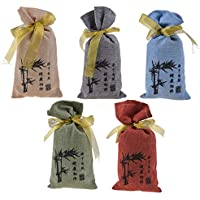 Kmise All Natural Bamboo Charcoal Deodorizer Bag Air Purifiers For Home Allergies Smokers Portable Odor Eliminator Car Air Freshener 5 Pcs