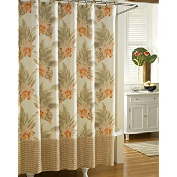 Tommy Bahama Home Wicker Floral Shower Curtain