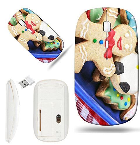 400 Christmas Cookie - Luxlady Wireless Mouse White Base Travel 2.4G Wireless Mice with USB Receiver, 1000 DPI for notebook, pc, laptop,mac design IMAGE ID: 34449487 Christmas gingerbread cookies homemade on the wooden tabl