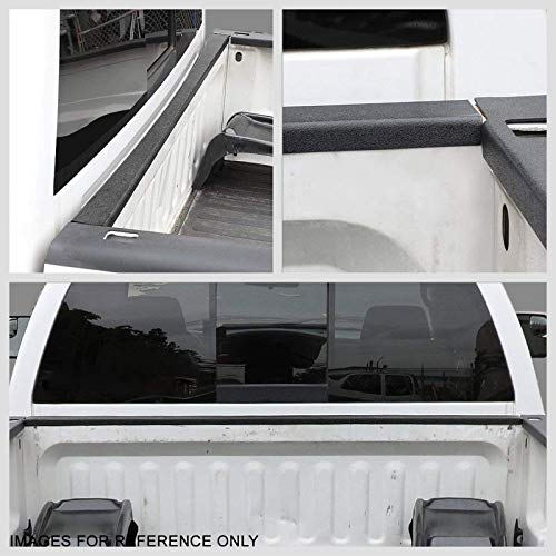 Black//Tape-On Works with 00-05 Toyota Tundra UrMarketOutlet Front Cargo Truck Bed Cap Molding Rail Protector Cover