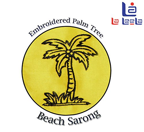 encubrir sarong vestidos de la falda del traje de baño ropa de playa bordado palmera envoltura pareo Verde