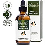 Homemade Facial Serum - Ebanel 4oz/118ml Organic Moroccan Argan Oil, 100% Pure Natural Cold Pressed Hair Oil and Face Skin Moisturizer for Dry Frizzy Hair, Anti-Aging, Skin Hydration Non-Oily Treatment