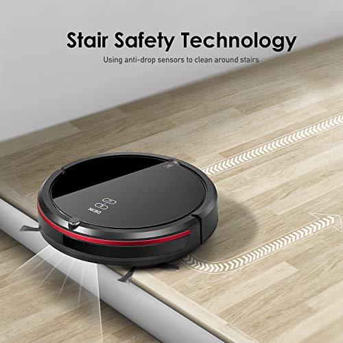 DEIK Robotic Vacuum with Schedule Cleaning, Self-Charging, Filter, 5 for Hard Floor