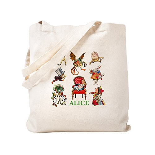 - CafePress Alice In Wonderland Natural Canvas Tote Bag, Cloth Shopping Bag