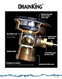 Fisher 22209 DrainKing Waste Valve, with Flat