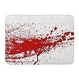"""GTdgstdsc Doormats Bath Rugs Outdoor/Indoor Door Mat Blood Paint Splatters Splash Spot Red Stain Blot Patch Liquid Drop Abstract Dirty Mark Bathroom Decor Rug 16"""" x 24"""""""