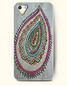 OOFIT Apple iPhone 5 5S Case Paisley Pattern ( Vintage and Delicate Paisley Print )