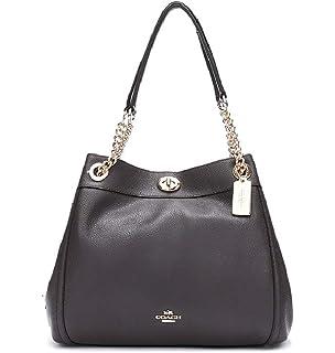 1093b50677 COACH Women's Refined Pebble Leather Edie 31 Shoulder Bag LI/Cerise ...